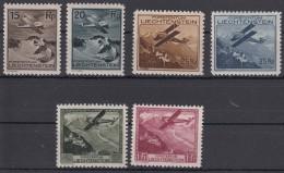 Liechtenstein 1930 Airmail Mi#108-113 Mint Hinged