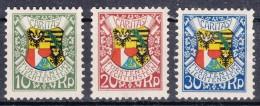 Liechtenstein 1927 Mi#75-77 Mint Hinged