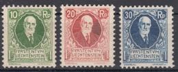 Liechtenstein 1925 Mi#72-74 Mint Hinged