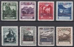 Liechtenstein 1932 Postage Due Mi#1-8 Mint Hinged