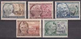 Hungary 1950 Mi#1101-1105 Mint Hinged
