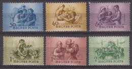 Hungary 1954 Mi#1364-1369 Mint Never Hinged - Unused Stamps