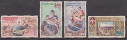 Laos 1958 Mi#85-88 Mint Never Hinged