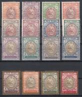 1909 Mi#288-303 Mint Hinged - Iran