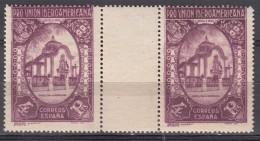 Spain 1930 Ibero-American Expo Mi#550 Mint Never Hinged Gutter Pair - Neufs