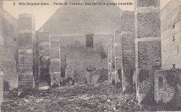 Bois-Seigneur-Isaac - Ferme De L'Abbaye, 2me Vue De La Grange Incendiée (Edit Gilissen, Laiterie De L'Abbaye) - Eigenbrakel