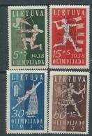 Lituanie N° 365 A / D (.)  Jamborée National, Les 4 Valeurs Neuves Sans Gomme Sinon TB - Lithuania