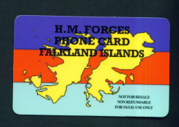 FALKLAND ISLANDS - Remote Phonecard  Miltary Use *BOGOF  Used