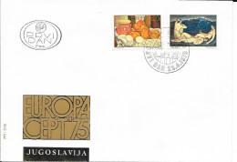 N°  1479 / 1480   -  EUROPA   YOUGOSLAVIE  -  1975  - FDC - FDC