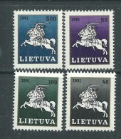 Lituanie N° 422 / 25 XX  Série Courante, Les 4 Valeurs, Sans Charnière, TB - Lithuania