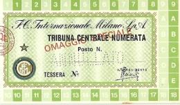 Abbonamento Inter Tribuna Centrale Numerata 1976-77 - Non Classificati