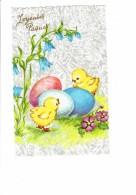 CPM - Joyeuses Pâques - Poussins Fleurs - Photochrom Glacée 1815 - Ostern