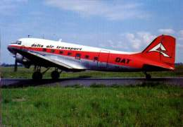 Douglas DC-3 Delta Air Transport Airlines DC 3 Aviation DAT (re-organized As SN Brussels Airlines) - 1946-....: Ere Moderne