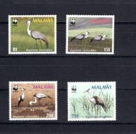 8600 Malawi Mi 477-80 ** WWF Störche Reiher - W.W.F.