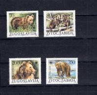 8602 Jugoslawien Jugoslawia Mi 2260-63 ** WWF Bären - W.W.F.
