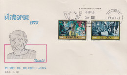 Enveloppe  FDC   1er    Jour    ESPAGNE    Oeuvres  De   PICASSO   MADRID   1978 - Picasso