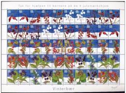 DENMARK 2004 Christmas Seals Complete Unfolded Sheet MNH / ** - Denmark