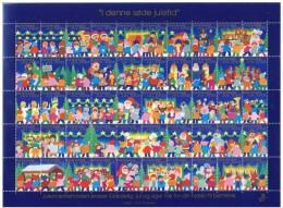 DENMARK 2002 Christmas Seals Complete Unfolded Sheet MNH / ** - Denmark