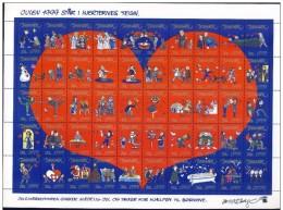 DENMARK 1999 Christmas Seals Complete Unfolded Sheet MNH / ** - Denmark