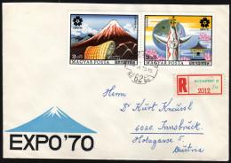 UNGARN 1970 - Weltausstellung Osaka EXPO'70 - Reco Brief - 1970 – Osaka (Japan)