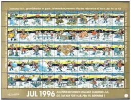 DENMARK 1996 Christmas Seals Complete Unfolded Sheet MNH / ** - Denmark