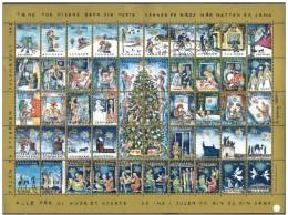 DENMARK 1993 Christmas Seals Complete Unfolded Sheet MNH / ** - Denmark