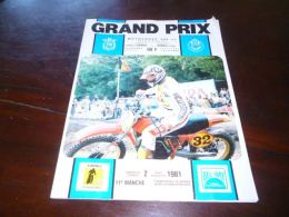 CB10LC163 Programme Grand Prix Motocross Citadelle Namur 1981 Moto Cross - Motos