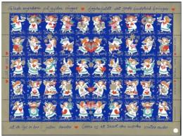 DENMARK 1992 Christmas Seals Complete Unfolded Sheet MNH / ** - Denmark
