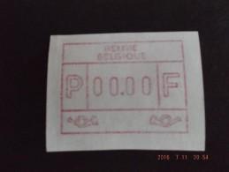 Test-Nuldruk Te Kort Gesneden. E Papier. N/F. RR. - Vignettes D'affranchissement