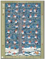 DENMARK 1991 Christmas Seals Complete Unfolded Sheet MNH / ** - Denmark