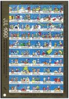DENMARK 1990 Christmas Seals Complete Unfolded Sheet MNH / ** - Denmark