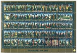 DENMARK 1986 Christmas Seals Complete Unfolded Sheet MNH / ** - Denmark