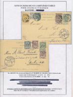 2 X Entier Postal Armoiries - TB Affr. Compl. Différents BXL 1894 Et DEURLE 1897 Vers Allemagne  --  XX583 - Entiers Postaux
