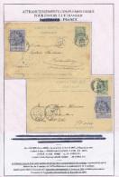 2 X Entier Postal Armoiries + TP Expo 97 - MOUSCRON Et TOURNAI 1897 Vers Allemagne Et France  --  XX584 - Entiers Postaux