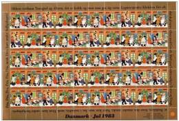 DENMARK 1983 Christmas Seals Complete Unfolded Sheet MNH / ** - Denmark