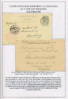 Entier Postal Armoiries Sans TP Complém. - IMPRIME ( RARE) ANVERS 1896 Vers HAMBURG  --  XX589 - Entiers Postaux