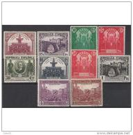ES604STV-LFT**604TARMS.España.Spain  Espagne CONGRESO UNION POSTAL PANAMERICANA 1931.  (Ed 604/13*)con Charnela .LUJO - Mezquitas Y Sinagogas