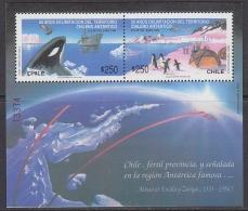 Chile 1990 Antarctica / Penguins / Whale M/s ** Mnh (31699) - Chili