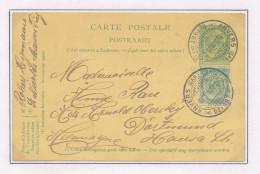 Entier Postal Armoiries + TP Dito Cachet à Pont ANVERS Gare Centrale 1908 Vers Allemagne  --  XX596 - Entiers Postaux