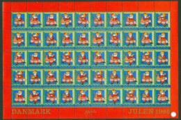 DENMARK 1968 Christmas Seals Complete Unfolded Sheet MNH / ** - Denmark