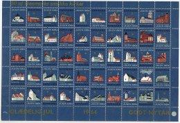 DENMARK 1964 Christmas Seals Complete Unfolded Sheet MNH / ** - Denmark