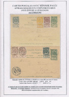 Entier Postal Armoiries Double Avec Réponse Neuve + TP Armoiries ANVERS 1899 Vers L´ Allemagne  --  XX599 - Entiers Postaux