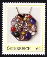 ÖSTERREICH 2011 ** Jugendstil Anhänger Mit Edelsteinen, Mineralien - PM Personalisierte Marke - MNH - Mineralien