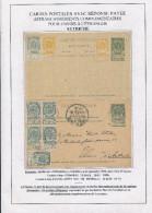 Entier Postal Armoiries Double Avec Réponse Neuve + TP Armoiries TONGRES 1898 Vers VVIENNE Autriche  --  XX600 - Entiers Postaux