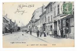 SAINT-DIE  (cpa 88)  Rue D'Alsace - Magasins - Animation - - - L 1 - Saint Die