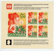 DENMARK 1948 Christmas Seals  Reprint Block (1987)  MNH / ** - Denmark