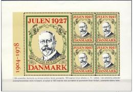 DENMARK 1927 Christmas Seals  Reprint Block (1978)  MNH / ** - Denmark