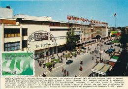 D25095 CARTE MAXIMUM CARD 1972 ITALY - INTERNATIONAL FAIR MILANO CP ORIGINAL - Architecture