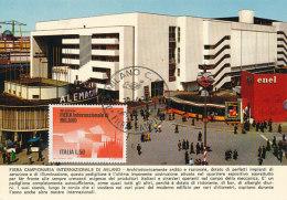 D25096 CARTE MAXIMUM CARD 1972 ITALY - INTERNATIONAL FAIR MILANO CP ORIGINAL - Architecture