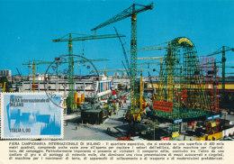 D25097 CARTE MAXIMUM CARD 1972 ITALY - INTERNATIONAL FAIR MILANO CP ORIGINAL - Architecture